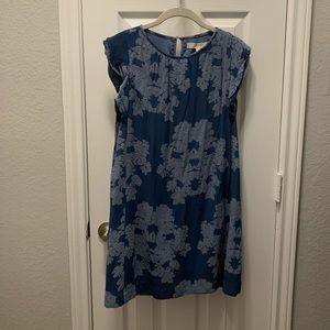 Loft Blue Floral Dress